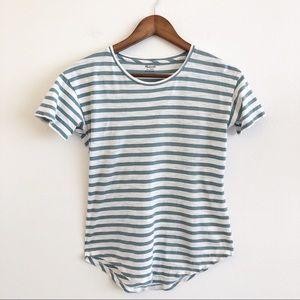 MADEWELL Striped Short Sleeve T Shirt SZ XXS